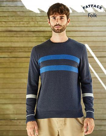 Folk Pointelle Crew Neck Sweater