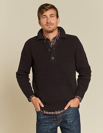 Filey Half Button Sweater