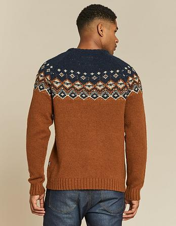 Reigate Fairisle Crew Neck Sweater