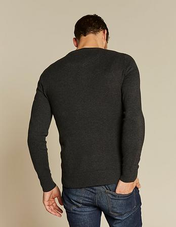 Cotton Cashmere Grandad Sweater