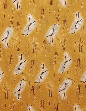 Heron Print Scarf