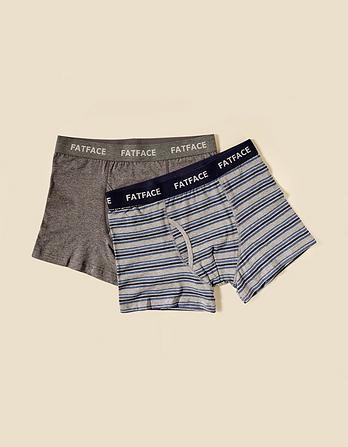 Two Pack Warrington Stripe Boxers