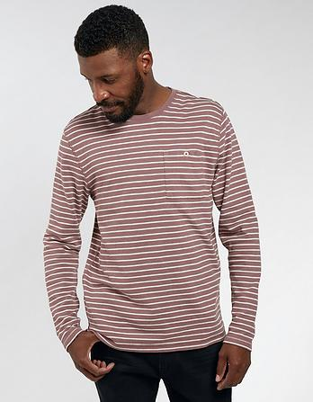 Newenden Stripe Organic Cotton T-Shirt