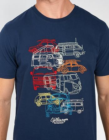 VW Stacked Campers Graphic T-Shirt