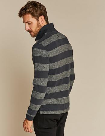Cromford Stripe Organic Cotton Polo