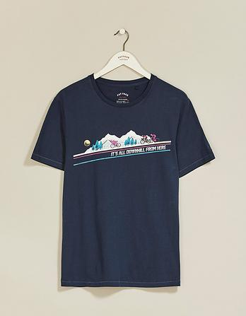 Its All Down Hill Graphic T-Shirt