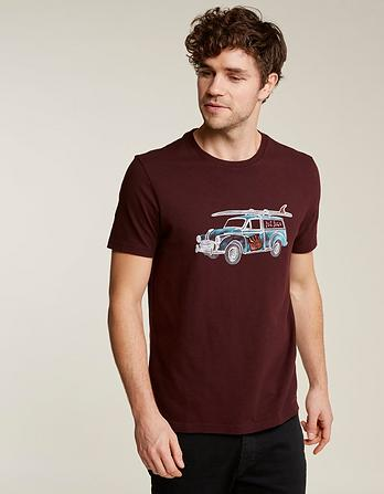 Surf Car Graphic T-Shirt
