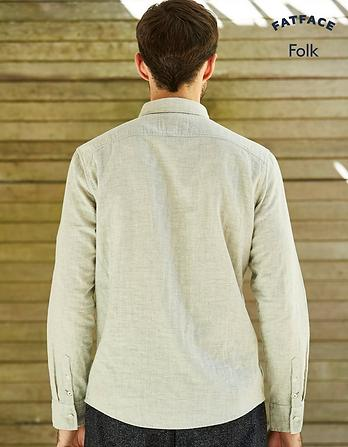 Folk Marl Plain Shirt