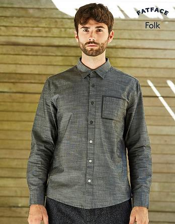 Folk Chambray Plain Shirt