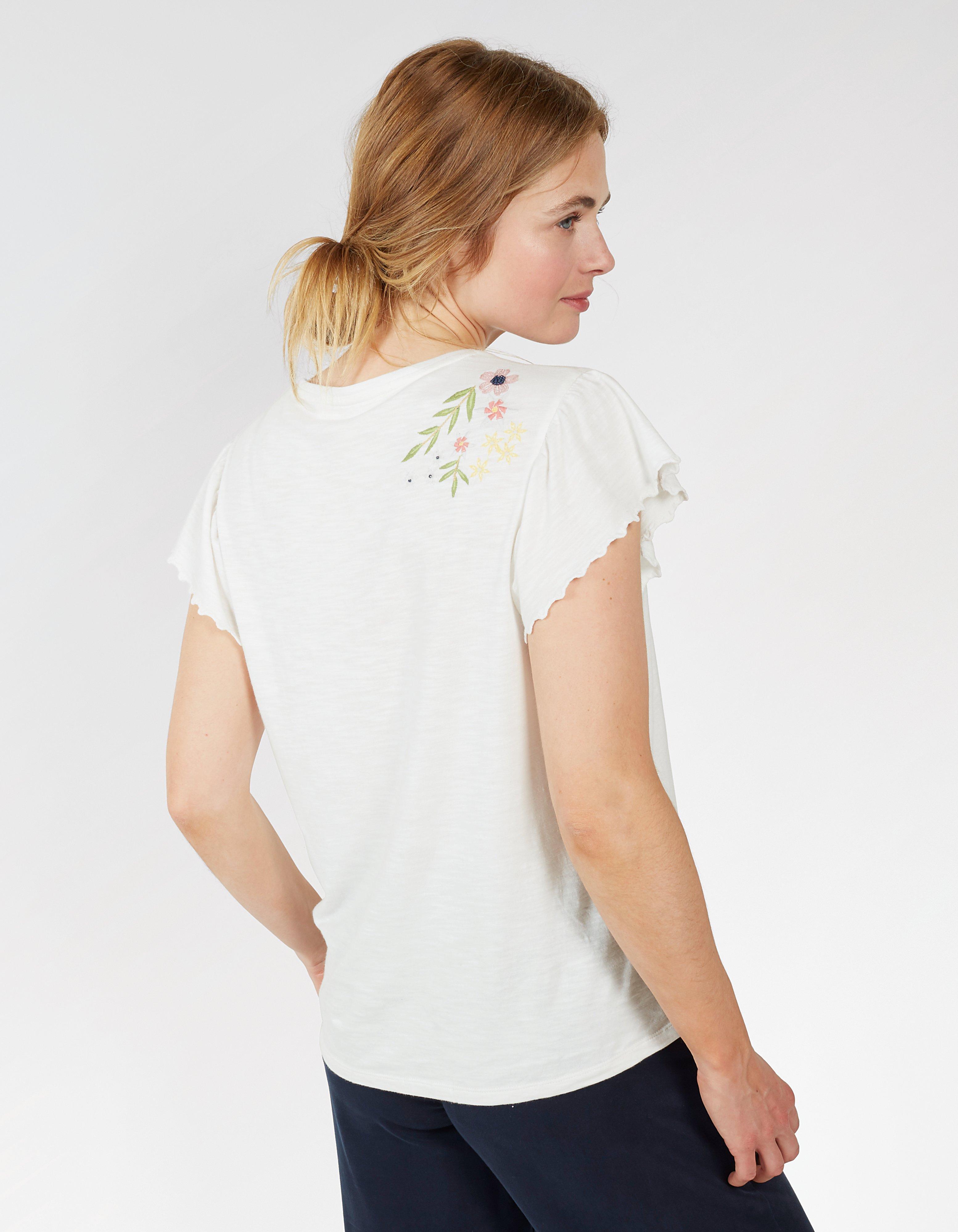 Aurelia Embroidered Tee