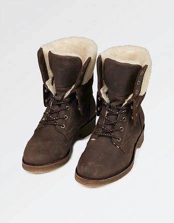 Cara Shearling Lace Up Boot