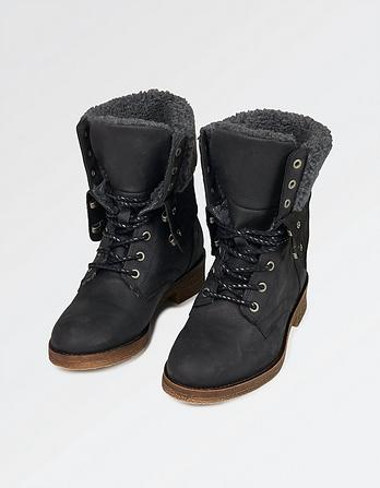 Cara Shearling Lace Up Boots
