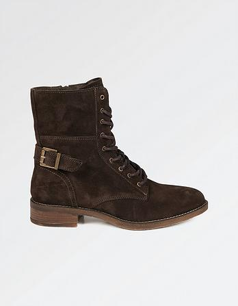 Caitlin Suede Lace Up Boot