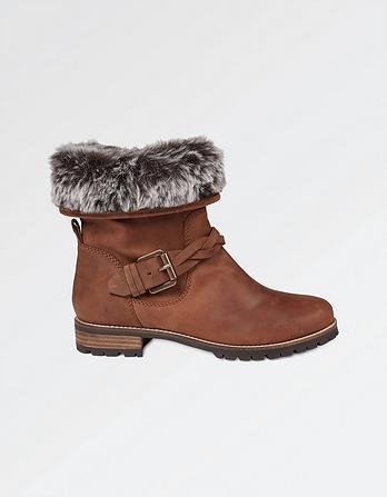 Fairford Faux Fur Lined Biker Boots