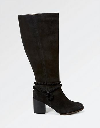 Wells Suede Knee High Boots