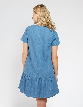 Denise Denim Peplum Dress