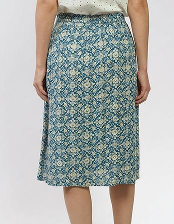 Corinne Woodblock Skirt