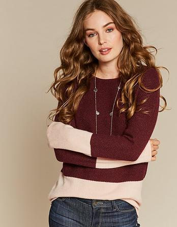 Sophie Textured Block Sweater
