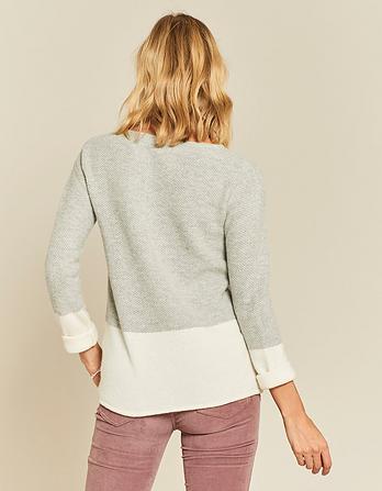 Sophie Textured Block Sweater