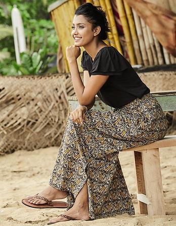Jessica Tiger Vine Maxi Skirt