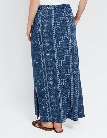 Jessica Tribal Batik Maxi Skirt