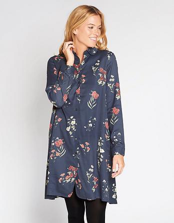 Juliet Botanical Floral Shirt Dress