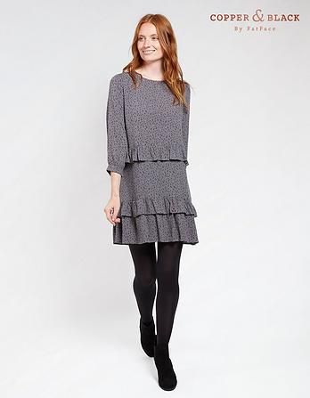 Lowri Speckle Ruffle Dress