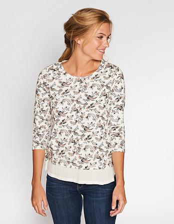 Millie Mix Oriental Birds Top
