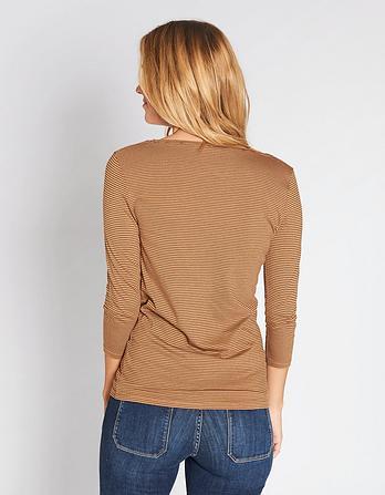 Laura 3/4 Sleeve Stripe T-Shirt