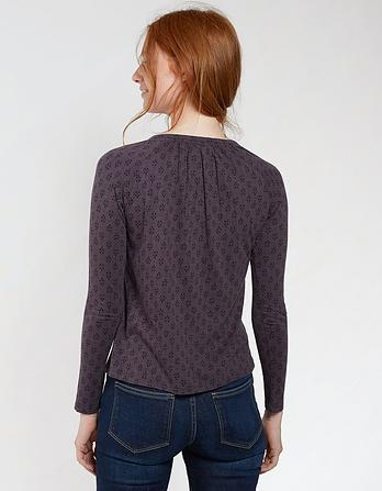 Blake Keyhole Diamond Dot Blouse