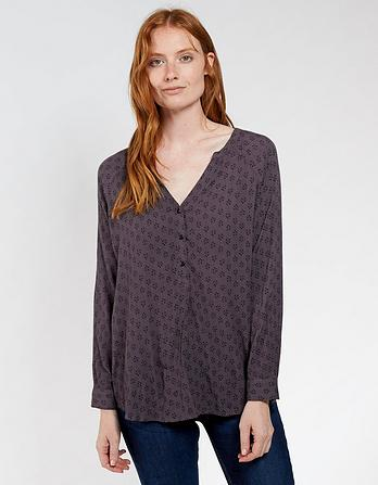 Maggie Diamond Dot Longline Top
