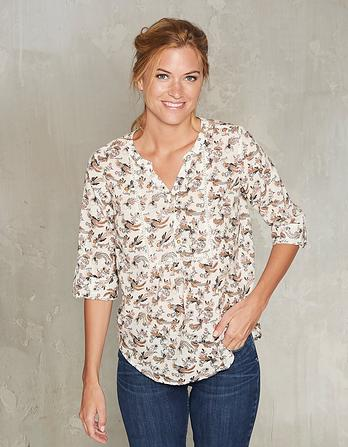 Poppy Oriental Birds Organic Cotton Popover