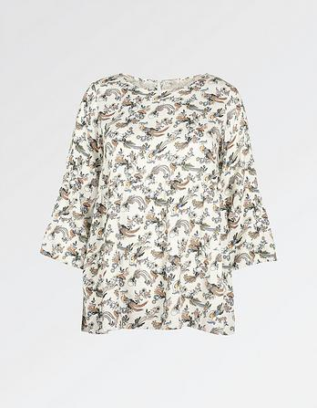 Lottie Oriental Bird Blouse