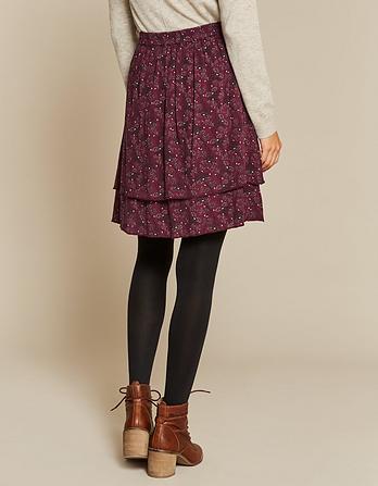 Violet Artisan Floral Skirt