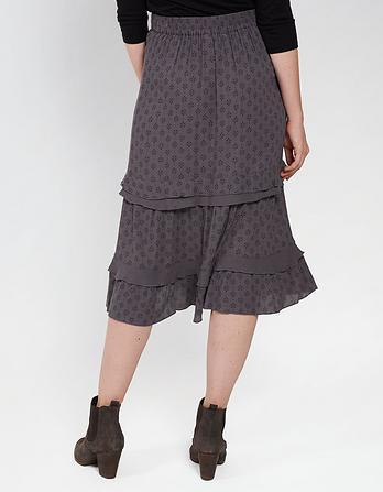 Jean Diamond Dot Tiered Skirt