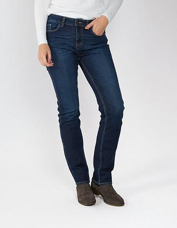 Dark Blue Slim Straight Jeans