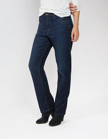 Dark Blue Easy Straight Jeans