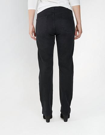 Overdye Black Easy Straight Jeans