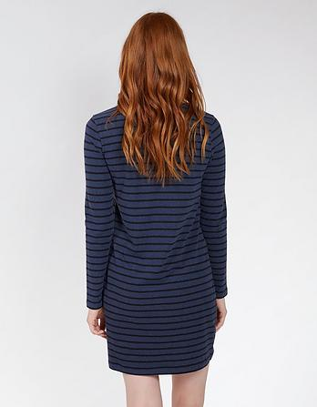 Aurelia Stripe Organic Cotton Dress