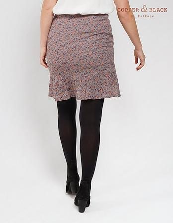 Claudia Poetic Floral Wrap Skirt