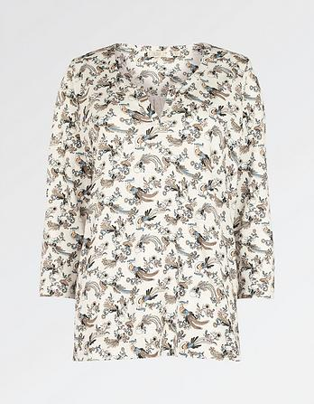 Edolie Oriental Bird Top