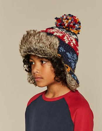 Fairisle Knit Trapper