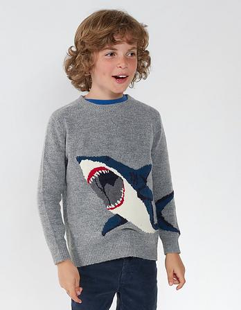 Shark Crew Neck Sweater