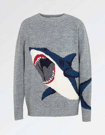 Shark Crew Neck Sweater
