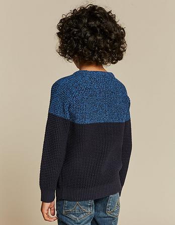 Charlie Color Block Crew Neck Sweater