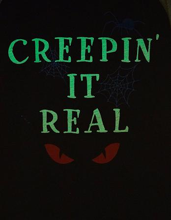 Creepin' It Real Glow in the Dark Graphic T-Shirt