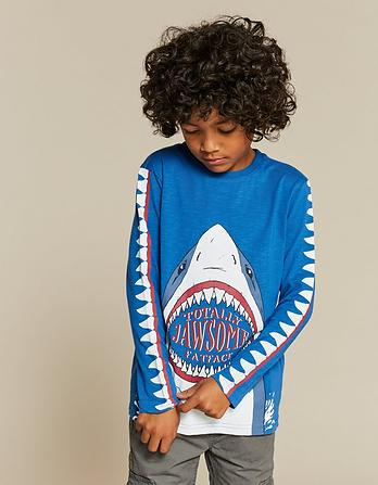 Shark Sleeve Graphic T-Shirt