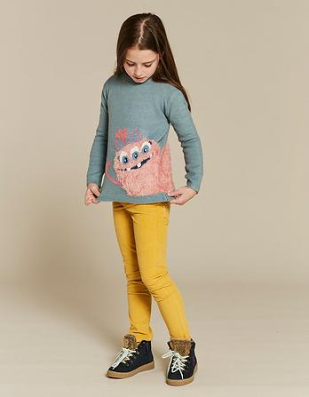 Flora Monster Crew Neck Sweater