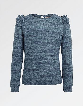 Aubrey Frill Crew Neck Sweater