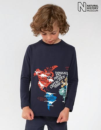 Natural History Museum Dinosaur Map T-Shirt
